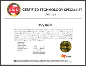 Certification: Avixa Certified Technology Specialist (CTS)