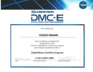 Certification: Creston DigitalMedia Certified Engineer (DMC-E)