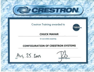 Certification: Crestron Systems Config